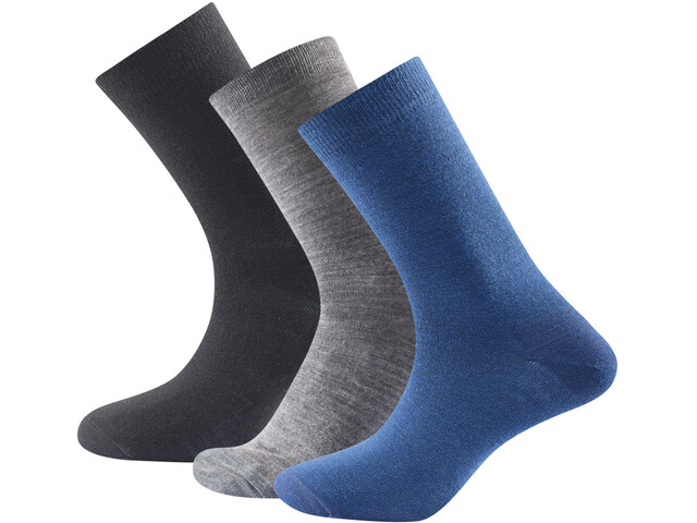 Devold Daily Light Socks 3-Pack Indigo Mix